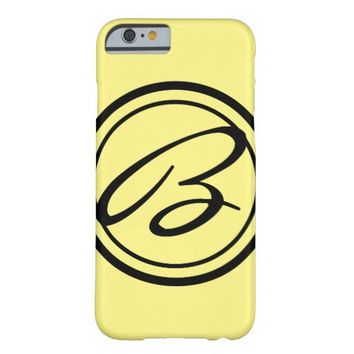 Solid Color with Monogram Barely There iPhone 6 Case