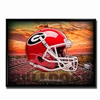 Georgia Bulldogs Head Gear Poster | UGA Head Gear Poster | Georgia Bulldogs Poster