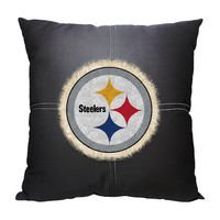Pittsburgh Steelers NFL Team Letterman Pillow (18x18)