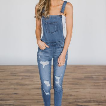 Kan Can Jeans ~ Justice Light Wash Overalls