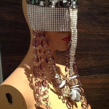 READY TO SHIP Unisex rave Mask Queen by PoshFairytaleCouture