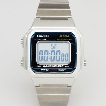 Casio B650WC Digital Bracelet Watch In Silver at asos.com
