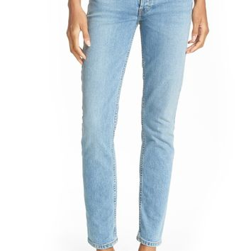 Re/Done Originals High Waist Straight Skinny Stretch Jeans (Light) | Nordstrom