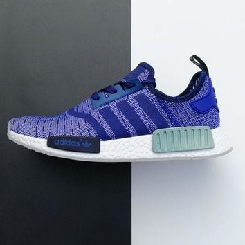"""Adidas"" NMD Blue Contrast Women Men Fashion Trending Running Sports Shoes"