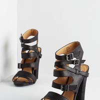 ModCloth Urban More Empower to Ya Heel in Midnight