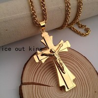 Jewelry Gift Stylish Shiny New Arrival Hip-hop Sweater Blouse Accessory Big Size Cross Rack Necklace [6543899843]