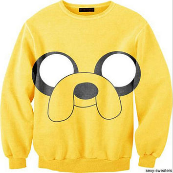 Womens Mens 3D Print Realistic Space Galaxy Animals Hoodie Sweatshirt Top Jumper Yellow dog
