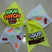 Sour Patch Kid Cheer Bow