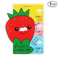 [TONYMOLY] Seedless Strawberry Seeds 3-step Nose Pack 6g (1. 5 Set)