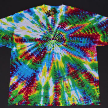 Vibration Tie Dye Hippie Burning Man Shirt - Grateful Dead Head Tee for Men