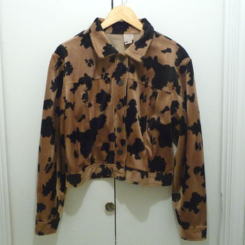 1980s Cow Print  Cowgirl Jacket