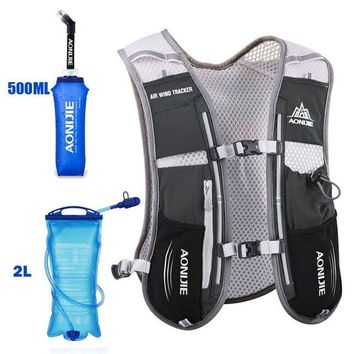Running Vests Jogging AONIJIE Running Marathon Backpack Equip with 2L Water Bag Unisex Sport Hiking Vest Pack Hydration Bag Bicycling Soft Flask H172 KO_11_1