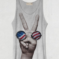 The U.S. vs. John Lennon  Grey Tank Top Shirt