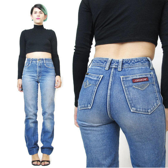 c3173c05 70s 80s High Waisted Jeans Jordache Jeans from Honey Moon Muse