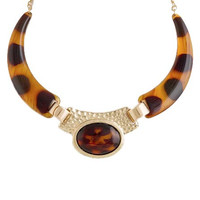 Tortoise Shell Collar Necklace
