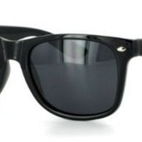 Blues Brothers Wayfarer Dark Black Sun Glasses - Black