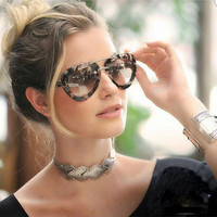2016 New All-match fashion sunglasses star lovers same style sunglasses Unisex retro trend women Sunglasses (New color)