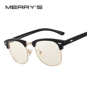 MERRY'S Anti Blue Rays Computer Goggles Reading Glasses 100% UV400 Radiation-resistant Computer Gaming Glasses S'2065
