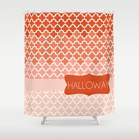 Coral Gradient Personalized Shower Curtain