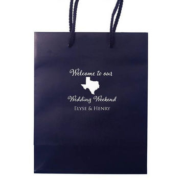 50 Personalized Texas Wedding Hotel Welcome Bags