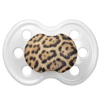 Jaguar Fur Photo Print Pacifier from Zazzle.com