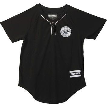 Ramones  Baseball Jersey Junior Top Black