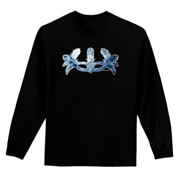 Water Masquerade Mask Adult Long Sleeve Dark T-Shirt by TooLoud