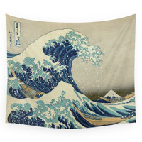 Society6 The Great Wave Off Kanagawa Wall Tapestry