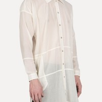SHIRT-30 Loose Long Side Pocket Shirt in Ivory - SS15 Jan-Jan Van Essche