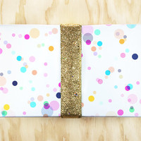Confetti Rainbow Wrapping Paper / Gift Wrap - Perfect for a Kid's Birthday!
