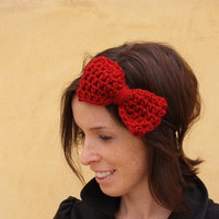 Holiday Red Bow Headband