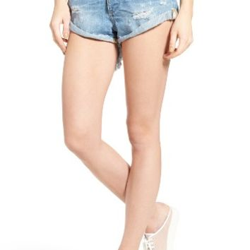 One Teaspoon Bandits Denim Shorts (Blue Bone) | Nordstrom