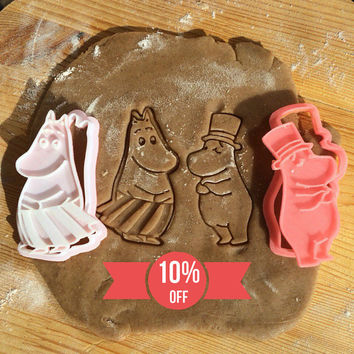 The Moomins  - Moominmamma +  Moominpappa Collection (Set) cookie cutters