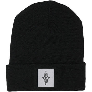 Sleeping With Sirens Men's Patch Beanie Black