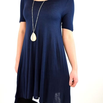 Madeline Swing Tunic - Navy