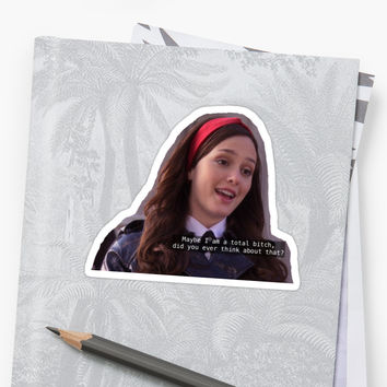 'blair waldorf gossip girl' Sticker by J. Elizabeth