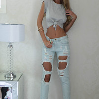 Daisy Duke Top (Grey)