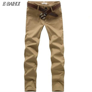 New Fashion Men long Pant  Linen Men casual Pants Flat Pockets Business Pants Full Cotton Pants