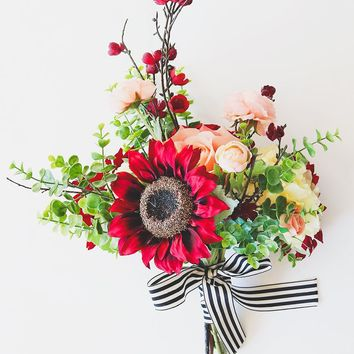 Afloral Exclusive Burgundy Sunflower and Peony Bouquet - Ships Alone