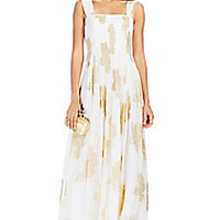 DVF Lillie Pleated Chiffon Gown