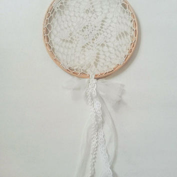 Large dream catcher, dream catcher, dreamcatcher, doily dream catcher,  white dream catcher, lace dream catcher, lace dreamcatcher, crochet