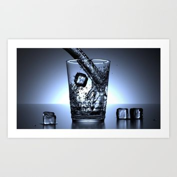Glass of Water Art Print by Mixed Imagery