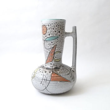 French Modernist Ceramic Handled Vase