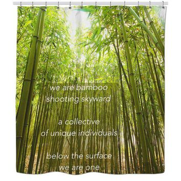 ONETOW Bamboo Shower Curtain