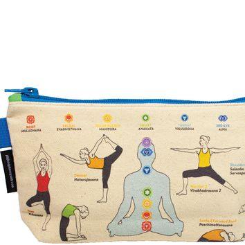 Yoga Pose Zipper Bag - PRE-ORDER, SHIPS EARLY AUGUST