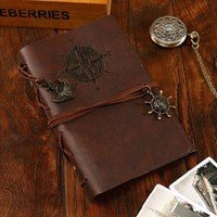 Vintage Notebook PU leather pirate diary stationery office school