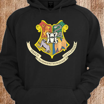 Draco Harry Potter Hogwarts logo Hoodie For Unisex Size Hoodie