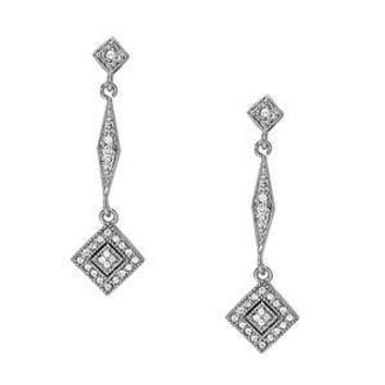 2/3 ct tw Diamond Cluster Earrings with F Color VS1 VS2 Clarity Diamonds
