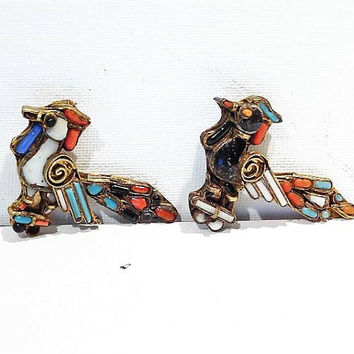 Victorian Zuni Bird Pins / Circa 1850s - 1870s / Civil War Era / Native American Jewelry