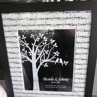 Personalized Custom Love Bird Wedding Family Tree   by karimachal